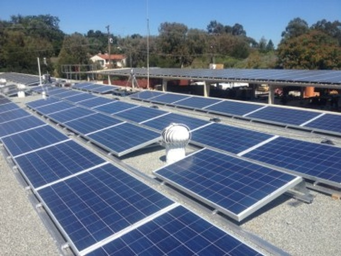 Los Gatos Maintenance Yard Rooftop solar panel Arrays by Solar Panel Contractor -  FRESCO SOLAR