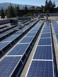 Los Gatos Police Department 62kW Rooftop solar panel array by Solar Panel Contractor -  FRESCO SOLAR