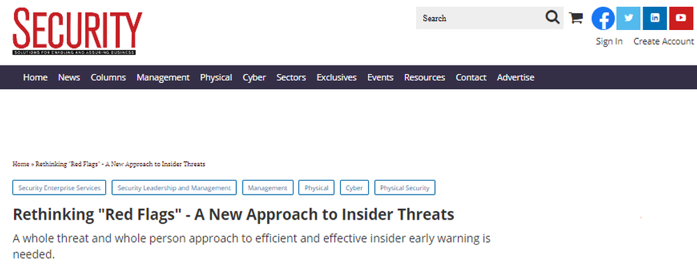 Rethinking  Red Flags  - A New Approach to Insider Threats   2020-01-10   Security Magazine.png