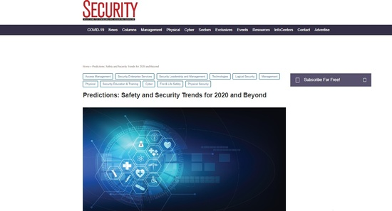 Predictions  Safety and Security Trends for 2020 and Beyond   2020-01-31   Security Magazine.jpg