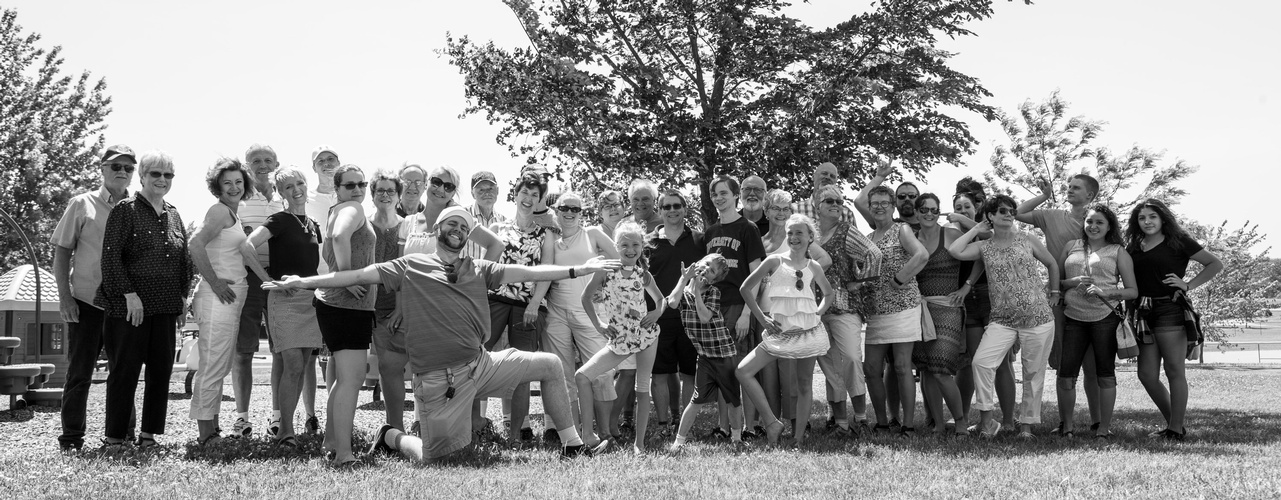 Monochrome Outdoor Group Photograph by Minnesota Photographer at Mode T Productions