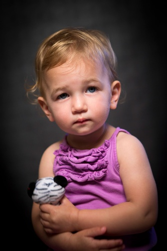 Toddler with Soft Toy - Professional Kids Photography Saint Paul MN by Mode T Productions
