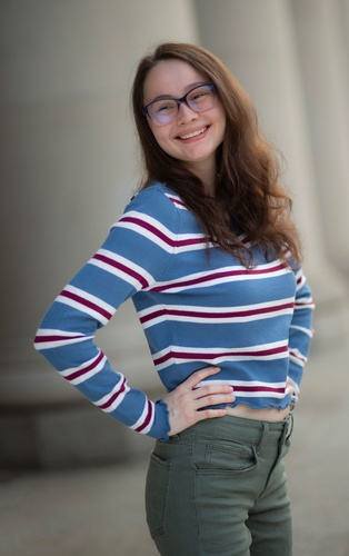 Girl wearing Striped Tshirt - Photography Services by Bloomington Photographer at Mode T Productions
