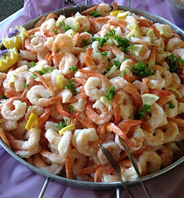 Boiled Prawns at a Wedding Catering by Christie's Catering Tacoma