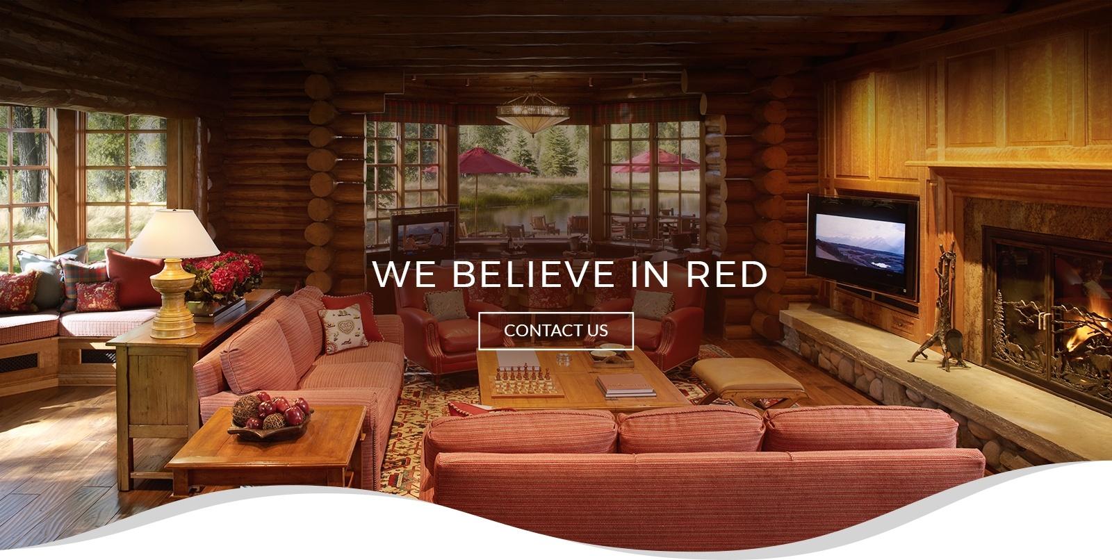 red chair interior design