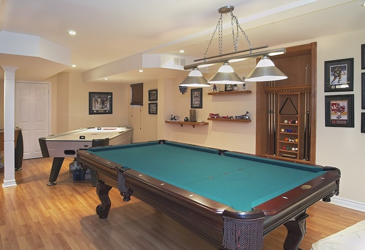 Green Billiards Table in a room