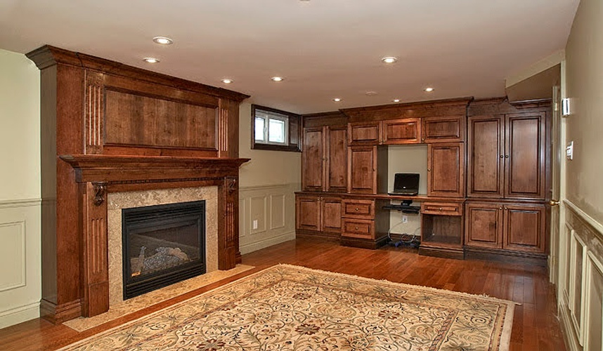 Wooden Basement Cabinet by Basement Renovation Contractor at Finished Basements