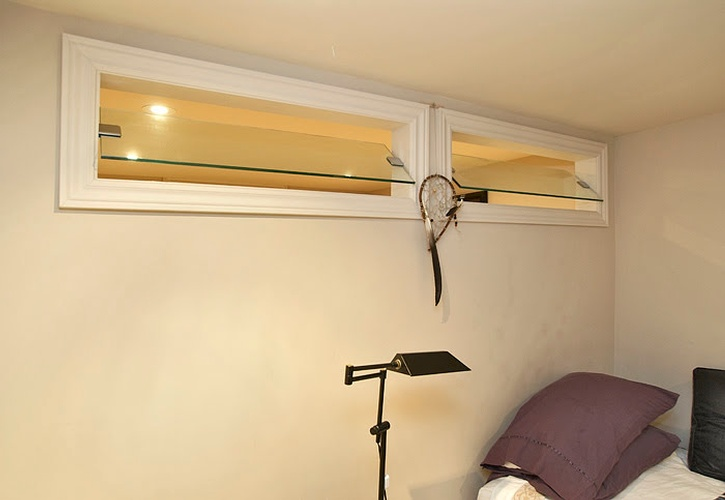 Glass Ventilator on White painted wall