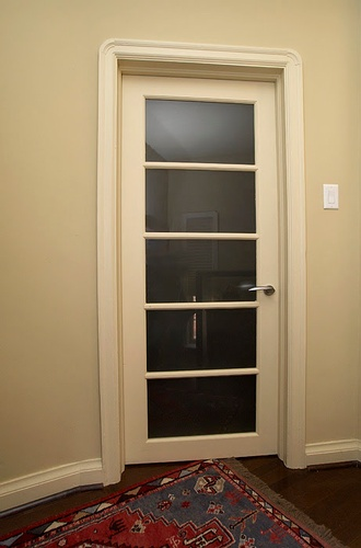 Closed Wooden Glass Door
