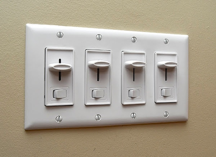 White Electric Switch Board on wall