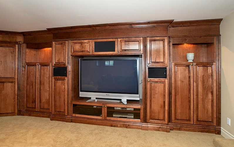 Wooden cabinets in Oakville by Basement Renovation Contractor - Finished Basements