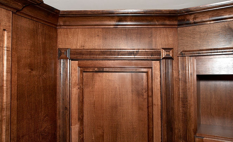 Wood Cabinets by Basement Renovation Contractor at Finished Basements