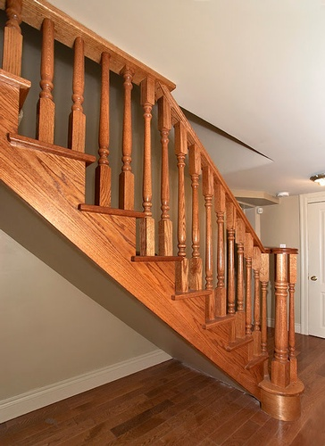 Wooden Basement Staircase Basement Renovation Contractor at Finished Basements