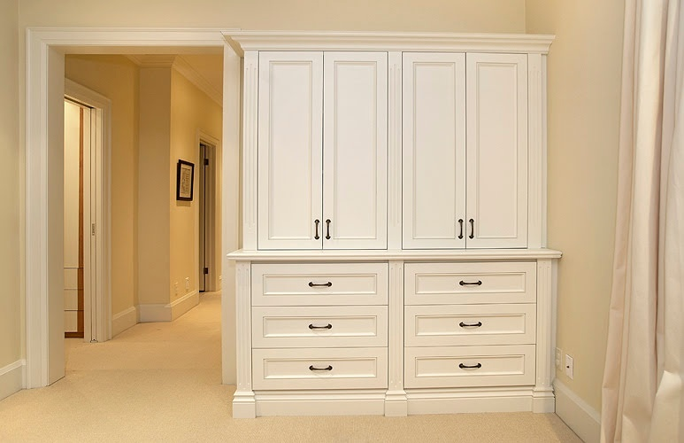 White finish Wooden Cabinet by Finished Basements