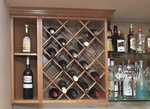 Wall Mounted wood Diamond Wine Rack