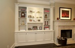 Cabinets and Fireplace Oakville by Finished Basements