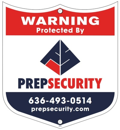 Custom Shield Security Sign by Prep Security