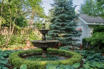 Fountain in Garden - Real Estate Photography Chicago IL by  Visual Filmworks