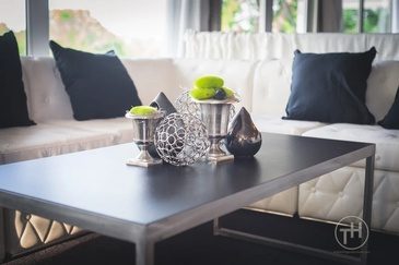 Coffee Table with Decorative Accents - Real Estate Photography Chicago IL by Visual Filmworks