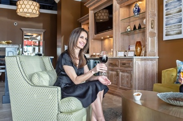 Lady sitting with a Glass of Wine - Photography Services Oak Lawn by Visual Filmworks