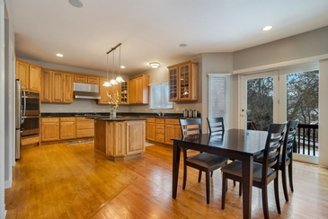 Kitchen with Wooden Cabinets - Real Estate Photography Arlington Heights by Visual Filmworks
