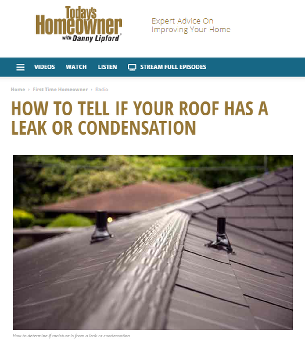 How to Tell If Your Roof Has a Leak or Condensation   Today s Homeowner.png