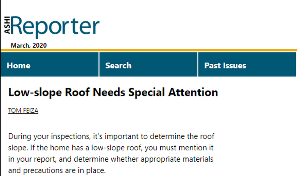 Low-slope Roof Needs Special Attention   The ASHI Reporter   Inspection News   Views from the American Society of Home Inspectors.png