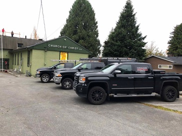 Citadel Pickup Trucks Parked Near House