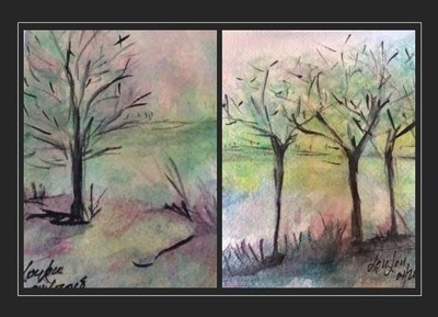 Lucie Austin - Card Collection  Trees in Seasons