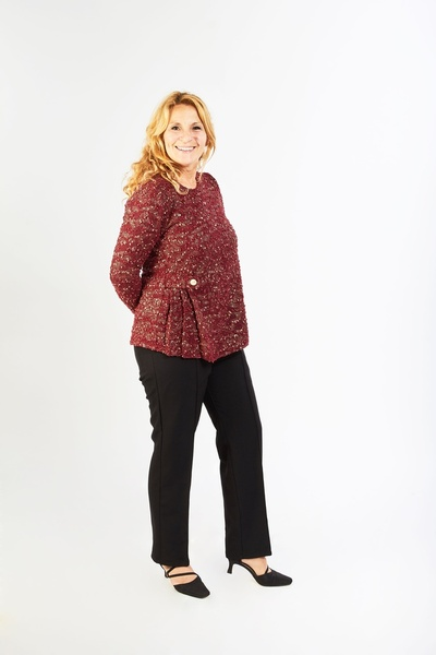 Long Sleeves Adapted Tops - Medium
