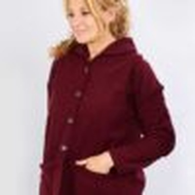 Women's Adapted Polar  Sweater Burgundy