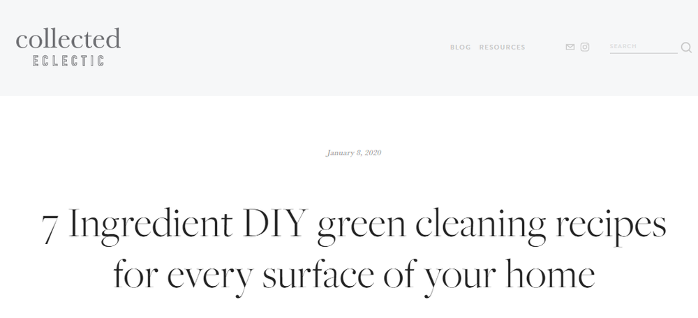 7 Ingredient DIY green cleaning recipes for every surface of your home — collected eclectic.png