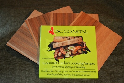 Gourmet Cedar Cooking Wraps Bulk 50 Pack - BC Coastal Grilling Planks