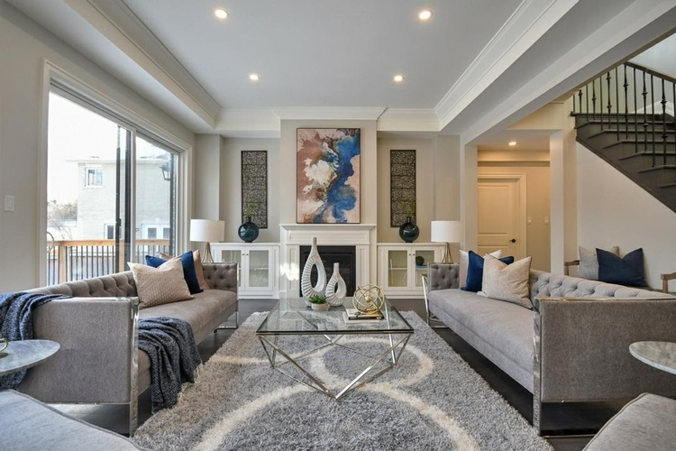 Furnished Living Room - Home Staging Consultation Services Oshawa by Impressive Staging