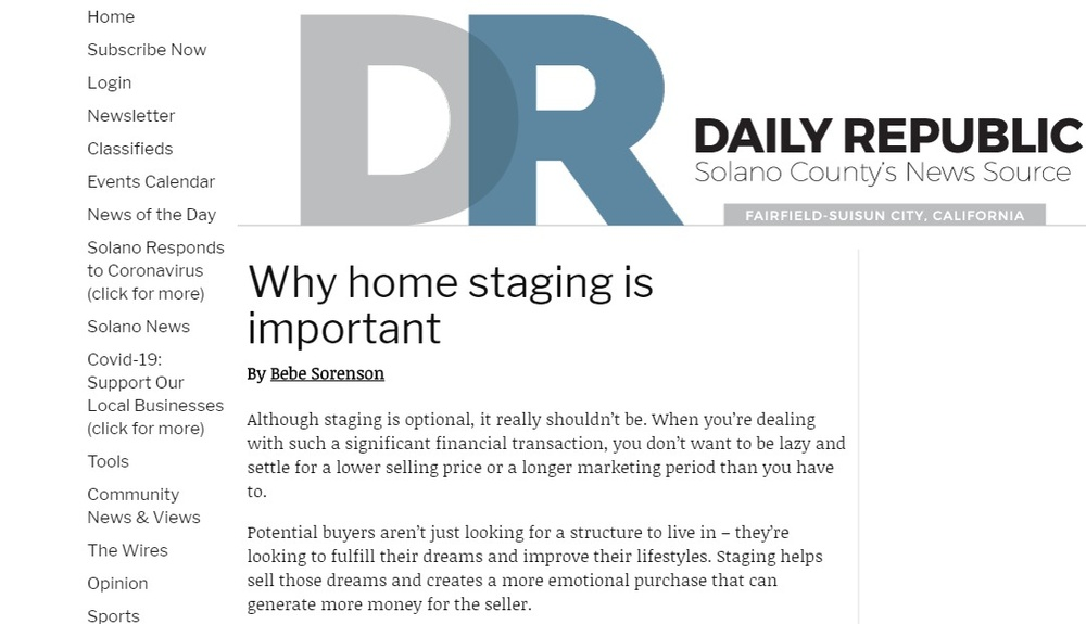 Why home staging is important