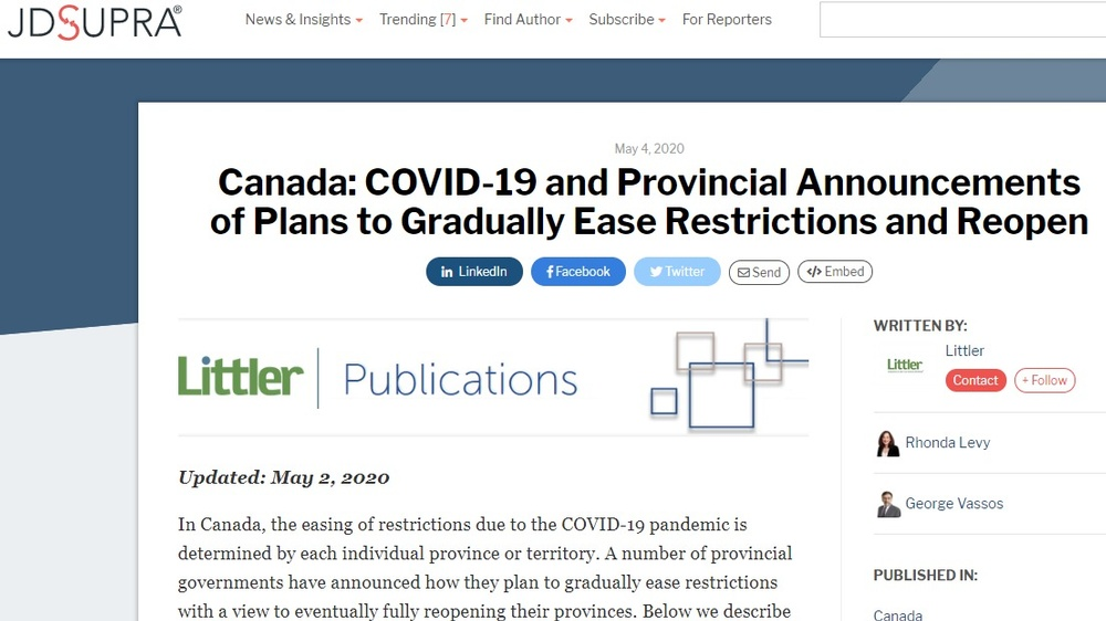 Canada_COVID_19_and_Provincial_Announcements_of_Plans_to_Gradually_Ease_Restrictions_and_Reopen_Littler_JDSupra