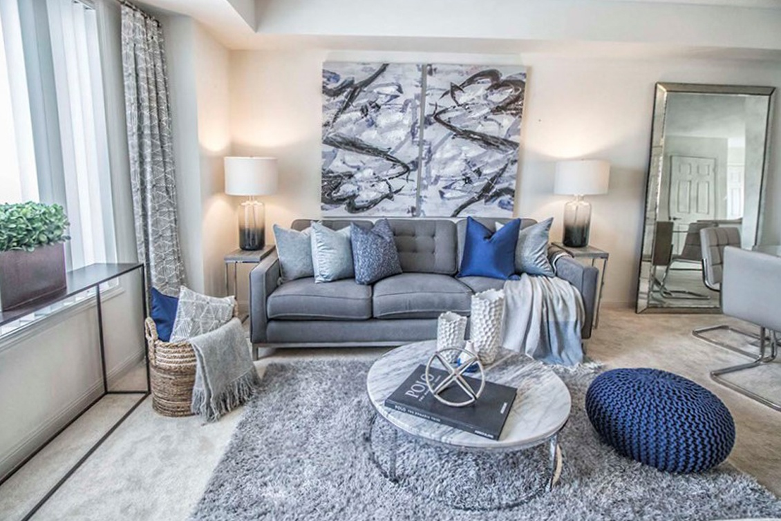 Condo Living Room Staging Scarborough by Certified Home Stager at Impressive Staging