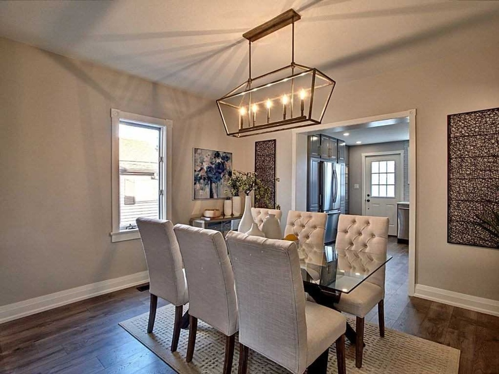 Lit Dining Room - Home Staging Consultation Services Oshawa by Impressive Staging
