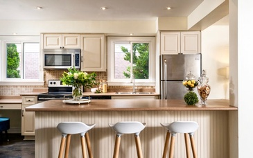 White Kitchen Counter Stools - Home Staging Ajax by Impressive Staging