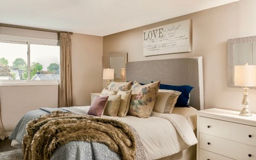 Bedroom Staging by Home Stager Ajax at Impressive Staging