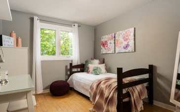 Bed in the Room Corner - Home Staging Services Rands Road, Ajax by Impressive Staging