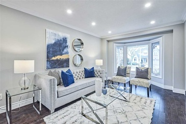 Modern Living Space by Home Stager Whitby at Impressive Staging