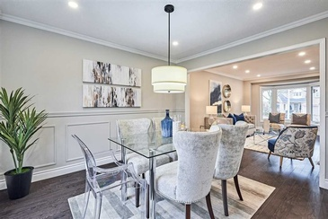 Dining Space Staging by Certified Home Stager Whitby at Impressive Staging