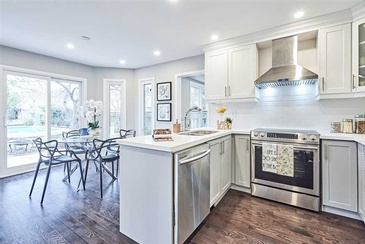 Staged Kitchen by Home Stager Whitby at Impressive Staging