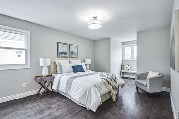 Bedroom Staging by Home Stager Whitby at Impressive Staging