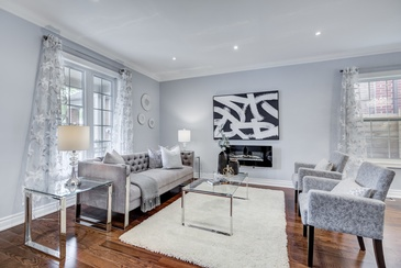 Furnished Living Room - Home Staging Consultation East York by Impressive Staging