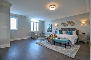 Elegant Bedroom Staging by Home Stager Pickering at Impressive Staging