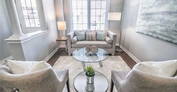 Furnished Living Room - Home Staging Services Brampton by Impressive Staging