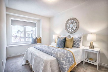 Bedroom Staging Services by Home Stager Brampton ON at Impressive Staging