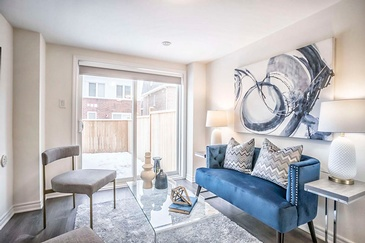 Elegant Staged Living Room - Home Staging Consultation Services Brampton by Impressive Staging